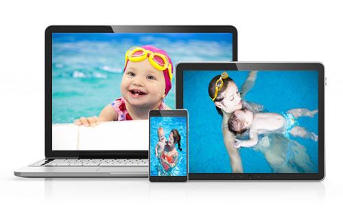 Cours de natation sur tablette, Internet et DVD